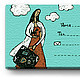 Gift Sets handmade. Set of business cards 'the girl with the suitcase'. Crowhouse. Online shopping on My Livemaster.