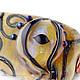 Необычный кулон-оберег из авторского стекла лэмпворк (lampwork), фентези, мифы, сказки, шаман, око дракона, кулон глаз, подвеска глаз, золотой, янтарный, медовый, глаз от сглаза