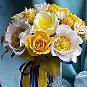"""Свадебный салон ручной работы. Ярмарка Мастеров - ручная работа Свадебный букет """"Sun"""". Handmade."""