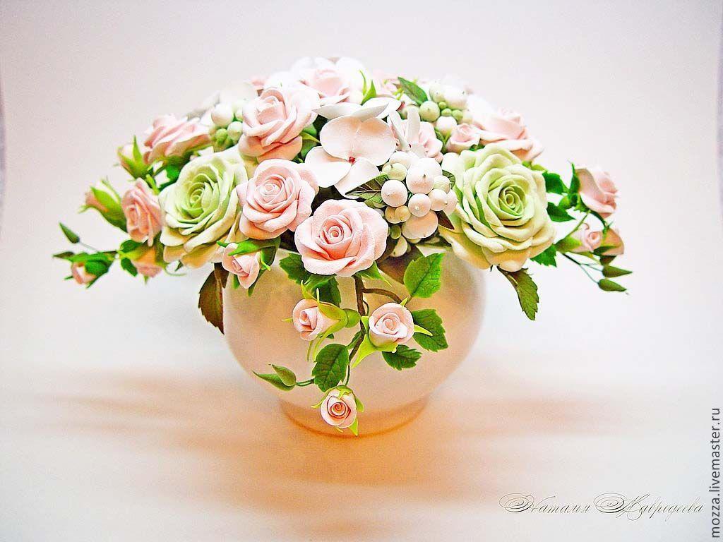 Купить цветы из глины полимерной, невеста кидает
