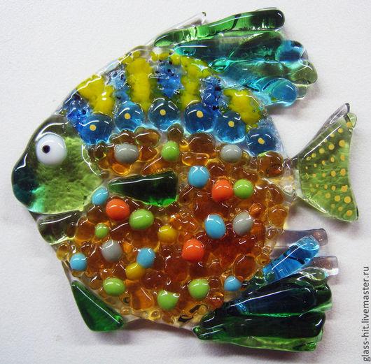 Рыбка-стеклянная плитка. Стекло. Фьюзинг.