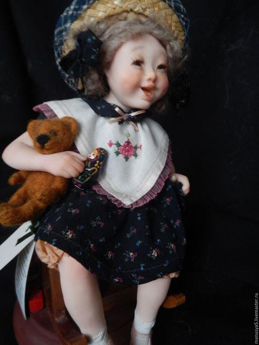 """Коллекционные куклы ручной работы. Ярмарка Мастеров - ручная работа. Купить Кукла """"Веснушка"""". Handmade. Комбинированный, стеклянные глаза"""