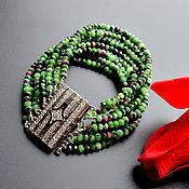 Украшения handmade. Livemaster - original item Handmade bracelets Rubies in Ziosite Author`s work. Handmade.