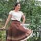 Felted skirt 'Chocolate', Klimkin Galina. Skirts. Galina Klimkina (gala-klim). My Livemaster. Фото №5