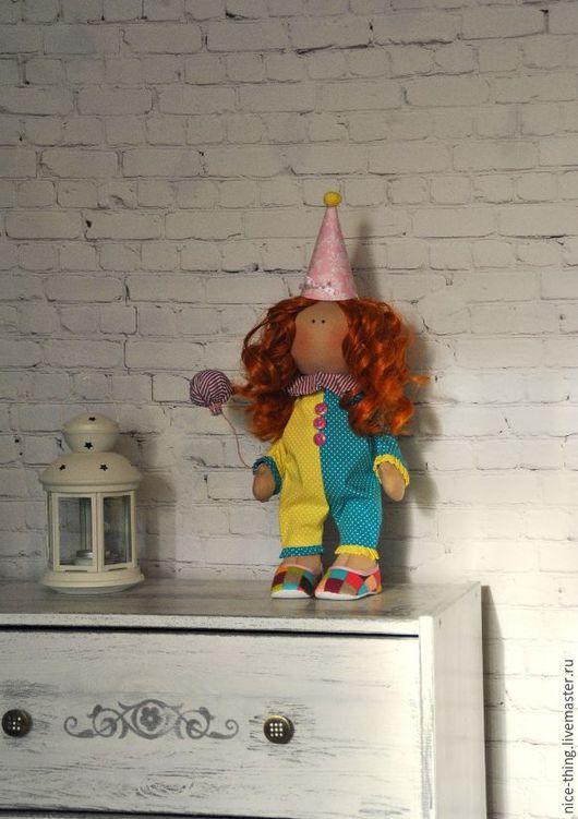 Куклы тыквоголовки ручной работы. Ярмарка Мастеров - ручная работа. Купить Клоунесса Джули. Handmade. Кукла ручной работы, синтепух