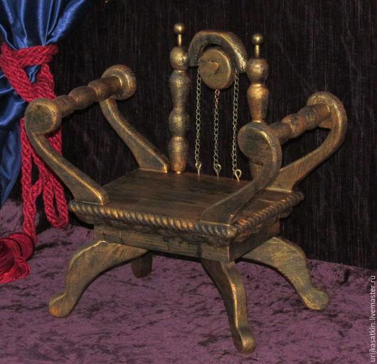 Кукольный дом ручной работы. Ярмарка Мастеров - ручная работа. Купить Кресло для кукол в восточном стиле.. Handmade. Золотой