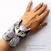 Украшения handmade. Livemaster - original item Owl bracelet / owl – transformer (3in1) – bracelet, brooch, pendant. Handmade.