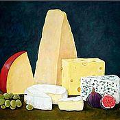 Картины и панно ручной работы. Ярмарка Мастеров - ручная работа Натюрморт с сыром. Handmade.