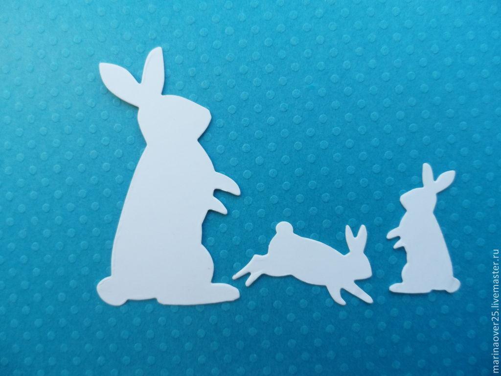 Вырубка Кролики, Вырубки для скрапбукинга, Первоуральск, Фото №1