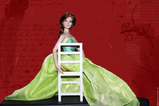 """Одежда для кукол ручной работы. Ярмарка Мастеров - ручная работа. Купить Корсет и юбка для куклы тоннер """"Зеленая фея"""". Handmade."""