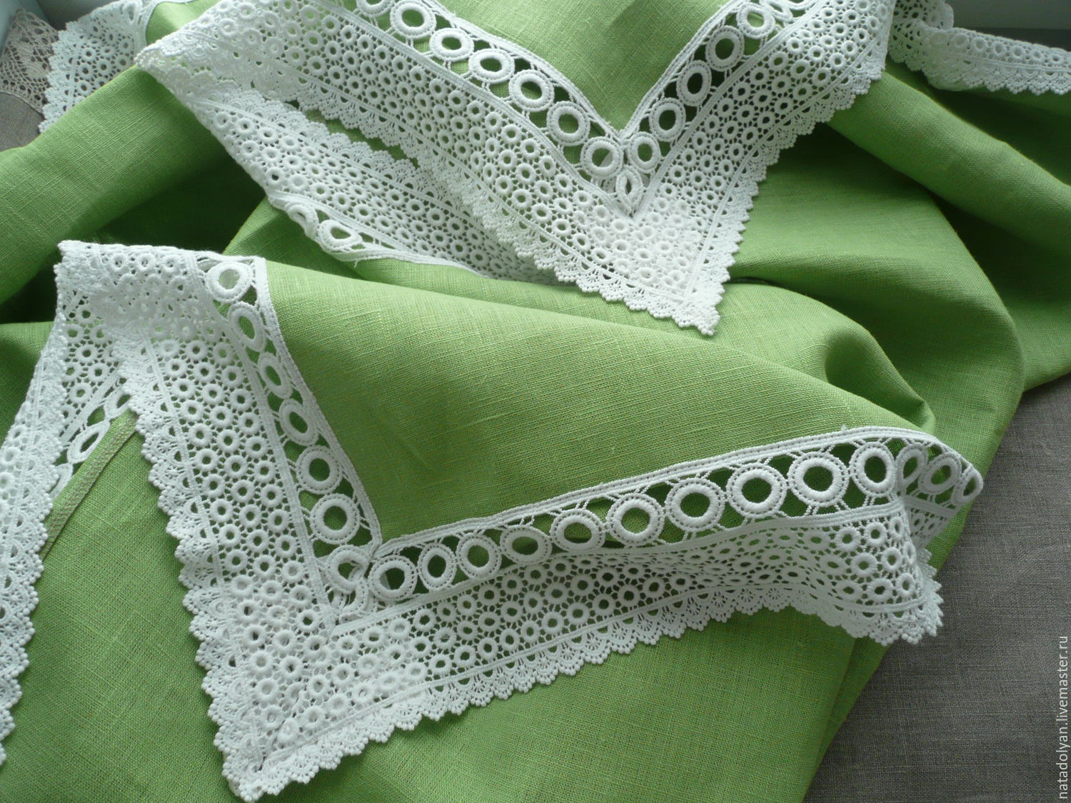 Linen tablecloth 'First foliage' In stock, Tablecloths, Ivanovo,  Фото №1