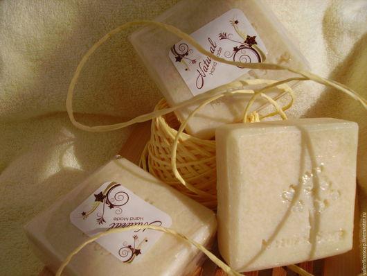 """Мыло ручной работы. Ярмарка Мастеров - ручная работа. Купить Мыло """"Молочная нежность""""со сливками, с нуля.. Handmade. Белый, оливковое"""