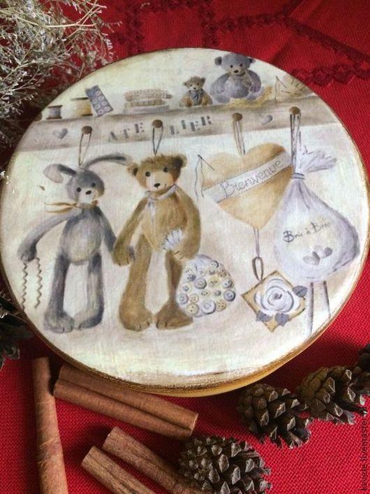 Шкатулки ручной работы. Ярмарка Мастеров - ручная работа. Купить Шкатулка для мелочей. Handmade. Желтый, шкатулка из дерева, для детей