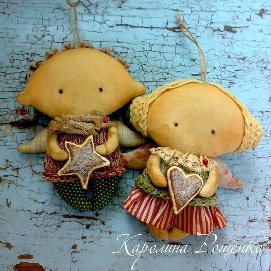 Ароматизированные куклы ручной работы. Ярмарка Мастеров - ручная работа. Купить Пряничные ангелочки. Handmade. Бордовый, для детской комнаты