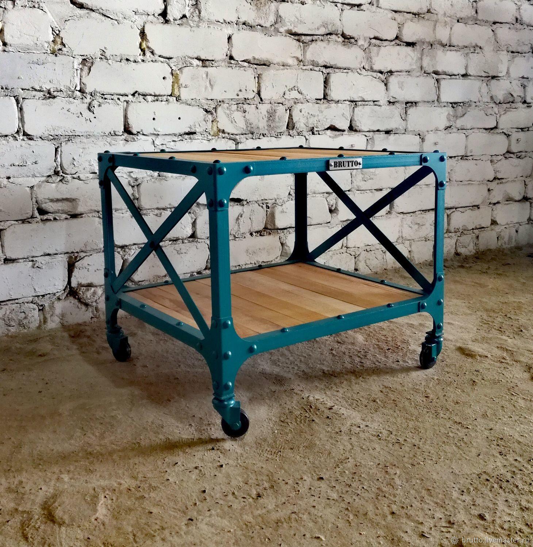 Лофт столик в стиле индустриальный лофт, Столы, Москва,  Фото №1