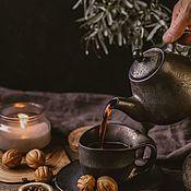 Посуда handmade. Livemaster - original item cookware set : Teapot, tea pair 300 ml. Handmade.