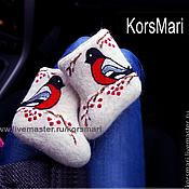 Обувь ручной работы. Ярмарка Мастеров - ручная работа валеночки самовалки СНЕГИРЮШКИ. Handmade.