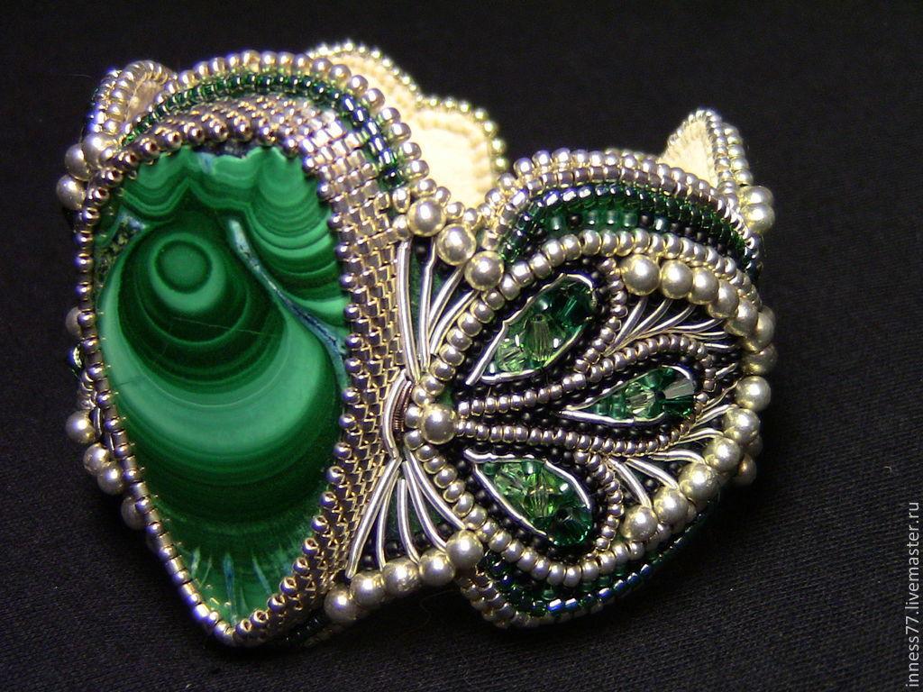 Bracelet with malachite 'Eastern bride', Bead bracelet, Chernishkovski,  Фото №1