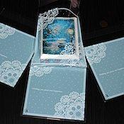 Кружево ручной работы. Ярмарка Мастеров - ручная работа Пакет со скотчем Кружева голубой. Handmade.