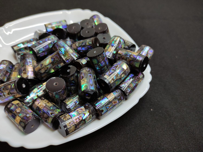 Haliotis Paua Beads Mosaic Cylinder 23h14mm, Beads1, Bryansk,  Фото №1