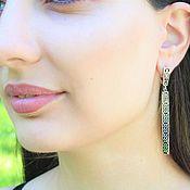 Украшения handmade. Livemaster - original item Modern 7 earrings made of 925 sterling silver DD0112. Handmade.
