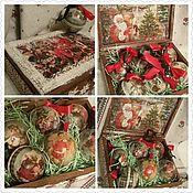 """Подарки к праздникам ручной работы. Ярмарка Мастеров - ручная работа """"Vintage Christmas toys"""" элитная коллекция. Handmade."""