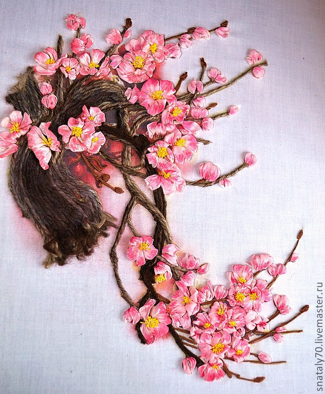 Японская вышивка из лент