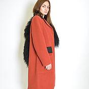 Одежда ручной работы. Ярмарка Мастеров - ручная работа Пальто зимнее terracotta с ламой. Handmade.