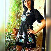 Одежда handmade. Livemaster - original item tunic of black linen