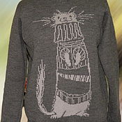 Одежда ручной работы. Ярмарка Мастеров - ручная работа Тату-свитер - Хорёк в свитере. Handmade.