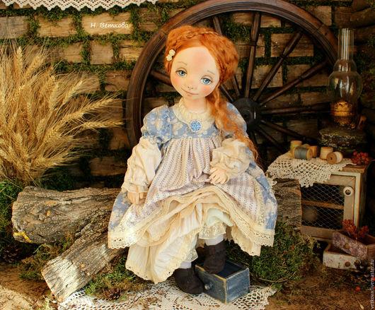 Коллекционные куклы ручной работы. Ярмарка Мастеров - ручная работа. Купить Августина текстильная авторская коллекционная кукла в подарок. Handmade.