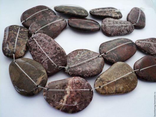 Для украшений ручной работы. Ярмарка Мастеров - ручная работа. Купить Яшма крупные бусины камни фриформ 44-57мм. Handmade.