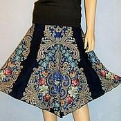 Одежда handmade. Livemaster - original item MIDI skirt from paloposki scarves