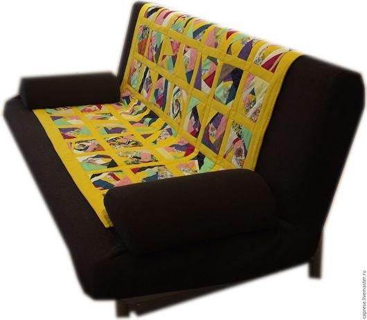 Текстиль, ковры ручной работы. Ярмарка Мастеров - ручная работа. Купить Лоскутное одеяло. Handmade. Трикотажное полотно, лоскутное одеяло