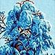 Схема для вышивания бисером `Зимнее одеяло` - полная зашивка бисером