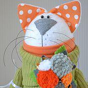 """Куклы и игрушки ручной работы. Ярмарка Мастеров - ручная работа Кошка """"Оливковая"""". Handmade."""