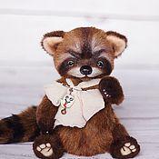 Куклы и игрушки ручной работы. Ярмарка Мастеров - ручная работа Олив енот тедди 21 см. Handmade.