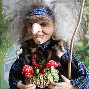Куклы и игрушки ручной работы. Ярмарка Мастеров - ручная работа БАБА   ЯГА  валяная. Handmade.