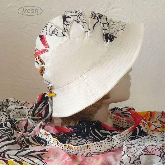 """Парео ручной работы. Ярмарка Мастеров - ручная работа. Купить Парео и шляпка (пляжный комплект) """"Разноцветное лето"""". Handmade."""