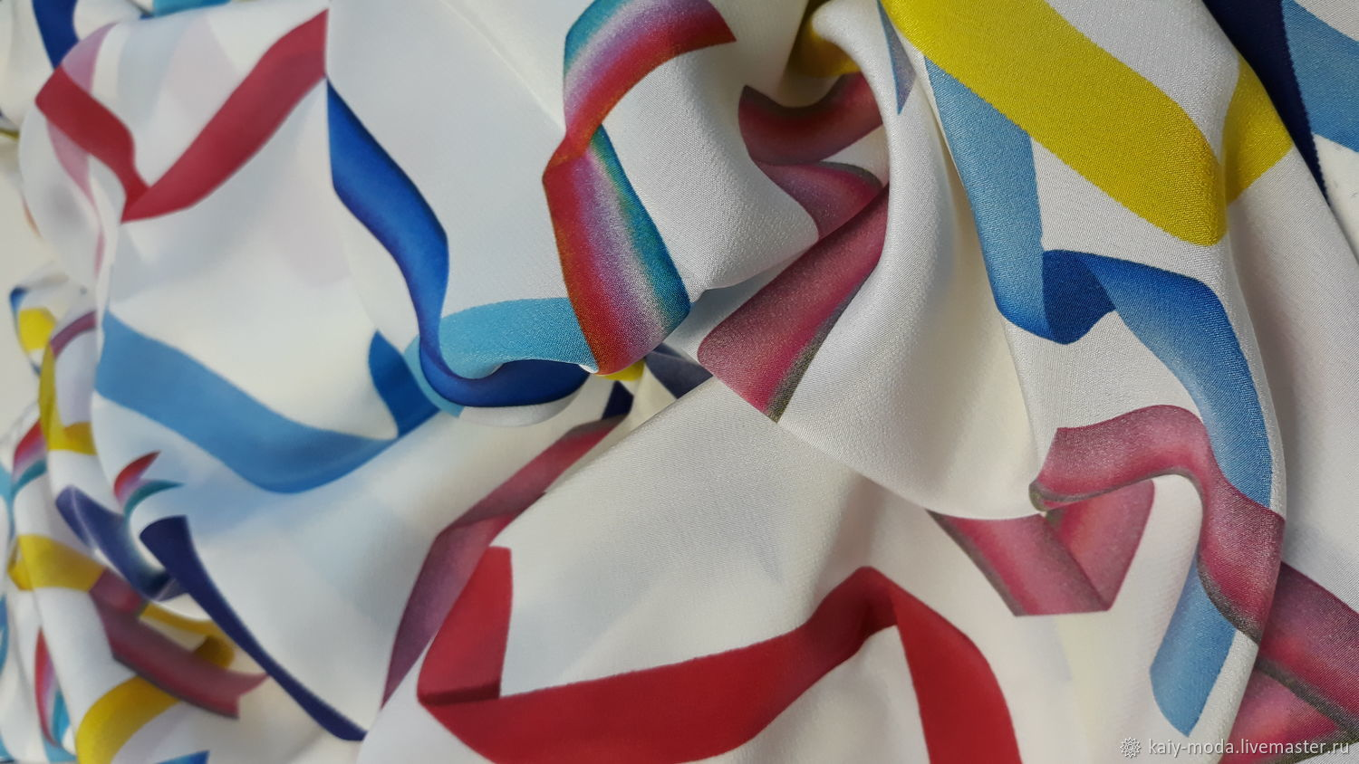 Crepe silk ' Tape', Fabric, Moscow,  Фото №1