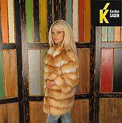 Одежда ручной работы. Ярмарка Мастеров - ручная работа Шуба поперечная из рыжей лисы. Handmade.