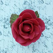 """Украшения ручной работы. Ярмарка Мастеров - ручная работа Брошь """"Бордовая роза"""". Handmade."""
