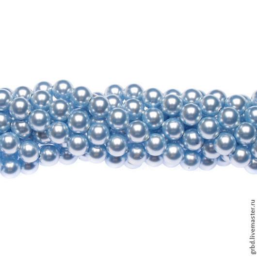 Для украшений ручной работы. Ярмарка Мастеров - ручная работа. Купить Жемчуг Сваровски 6 мм 5810 Light Blue (06LB-302). Handmade.
