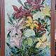 Картины цветов ручной работы. Букет лилий. barabasha. Интернет-магазин Ярмарка Мастеров. Букет цветов, мастихиновая живопись, разноцветный