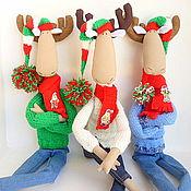 Куклы и игрушки ручной работы. Ярмарка Мастеров - ручная работа Лось тильда,текстиль,новый год и Рождество.. Handmade.