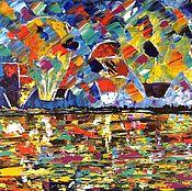 Картины и панно ручной работы. Ярмарка Мастеров - ручная работа Путешествие на воздушном шаре. Handmade.