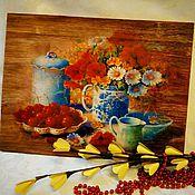 Картины и панно manualidades. Livemaster - hecho a mano Paneles brashirovannoe Appetitnaya cerezas. Handmade.