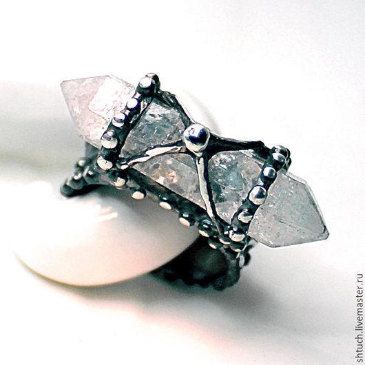 """Кольца ручной работы. Ярмарка Мастеров - ручная работа. Купить Кольцо с природным кристаллом кварца """"Лхаса"""". Handmade. Серебряный, шамбала"""