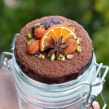 Посуда ручной работы. Ярмарка Мастеров - ручная работа Баночка Шоколадный торт. Handmade.