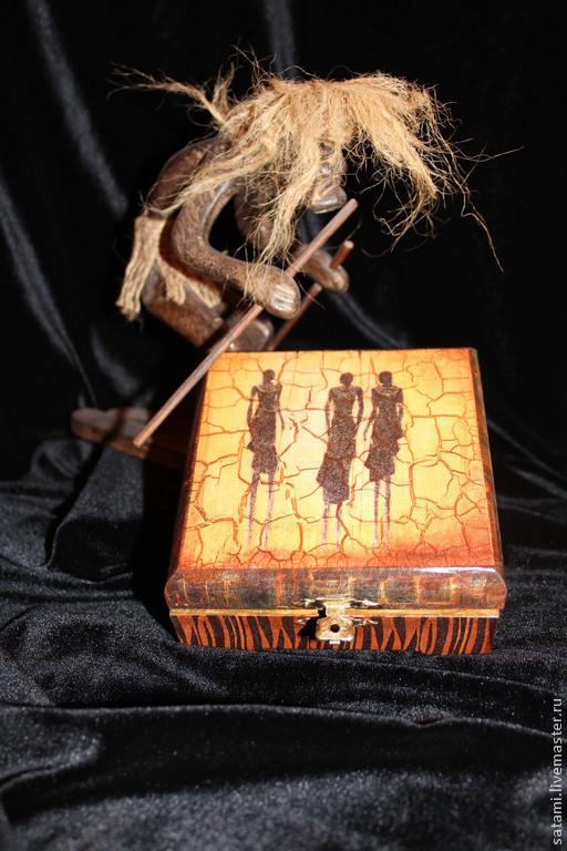 """Шкатулки ручной работы. Ярмарка Мастеров - ручная работа. Купить Шкатулка для украшений """"Масаи"""". Handmade. Подарок на любой случай"""